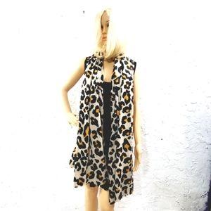 Ann Taylor cheetah animal print large shawl scarf